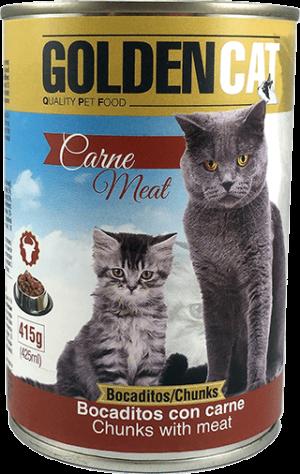 Lata Golden Cat Carne
