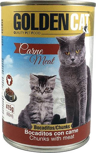 Lata Golden Cat Carne