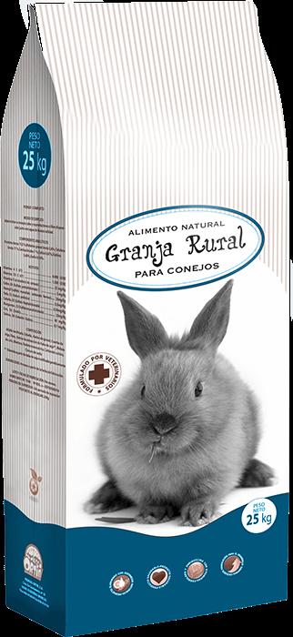 Conejos granja rural